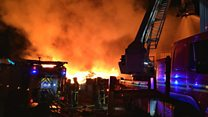 Fire at an Oldbury recycling plant