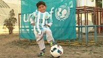 Messi shirt boy leaves Afghanistan