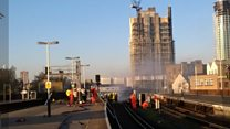 Trackside fire breaks out at Vauxhall station