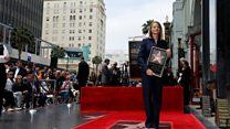 At last! Jodie Foster's Hollywood star