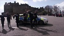 Police Scotland do the Running Man Challenge
