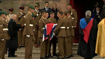 Funeral of marathon collapse army captain held