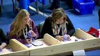 Ballot boxes open and counting begins