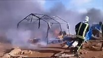 'We were set on fire'