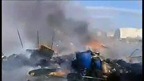 「世界はどこだ!」 空爆受けたシリア難民キャンプで悲痛な叫び