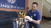 The man with Leicester's trophy