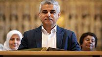 Sadiq Khan sworn in as London mayor