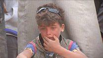 Fleeing Syrians stuck at Jordan's border