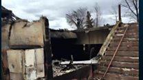 Canadian officials tour fire-ravaged city