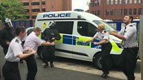 Kingston Police take on the Running Man Challenge