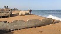 Ghana's disappearing coastal village