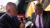 Boris Johnson on the Leave campaign trail