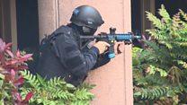 Police practice terror response in London
