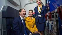 George Osborne joins the cabin crew