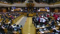 Brawl in South African parliament