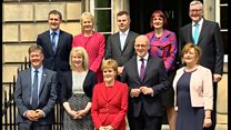 Scottish government's new cabinet announced