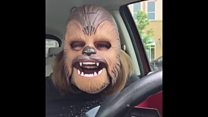 Chewbacca mask woman becomes a viral hit