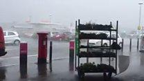 Blown away in sudden downpour in Nairn