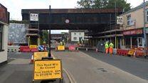 Work begins to remove former Taunton rail bridge