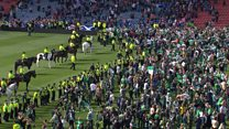 Footage of Scottish Cup final trouble