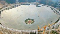 China constrói maior radiotelescópio do mundo