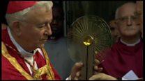 English saint's relic on pilgrimage