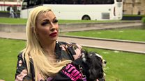Jodie Marsh protests against puppy farming