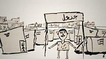 Menino que fugiu sozinho da Síria conta em desenhos sua viagem até a França