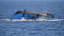 Horror as migrant boat capsizes