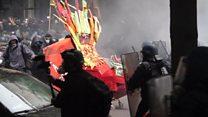 Labour unrest turns violent in Paris