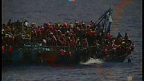 リビア沖で多数の移民救助 今週すでに7000人以上