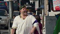Council's Roman emperor video mocked