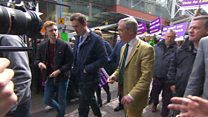 UKIP's Farage heckled on Birmingham walkabout