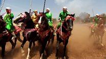 'Women warriors' on horseback