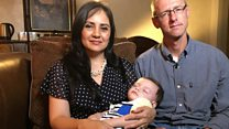 'Baby swap' parents home at last