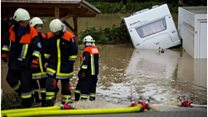 Severe floods hit Germany and France