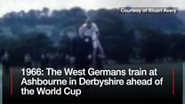 1966 World Cup: West Germans training in Ashbourne
