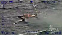 Rescue helicopter called to burning yacht