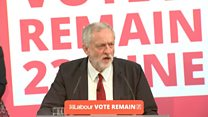 Corbyn makes the case to stay in EU