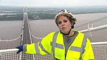 Severn Bridge comes alive with song