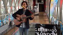 Jack Savoretti performs on Tower Bridge