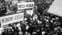 The struggle for women's suffrage
