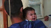 Inside Aleppo as air strikes hit
