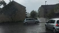 Heavy rain and flooding in Penicuik