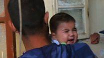 空爆下のアレッポ市内 幼児にも次々と被害が