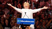 Hillary hails 'milestone'...