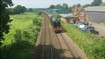 Flying Scotsman steams through Shropshire