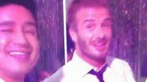 Astley enjoys Beckham enjoying Astley