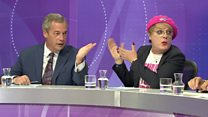 Farage and Izzard clash on Question Time