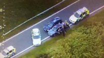 Police filmed 150mph car chase
